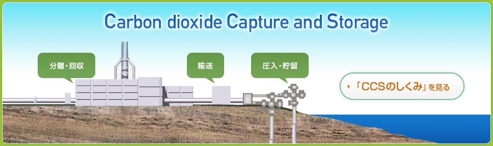 Carbon dioxide Capture and Storage CCSの仕組みを見る